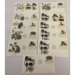 15 American first day covers relating to trees. All show post mark for Hot Spring National Park.