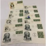"""12 American 1950's first day covers """"United States Regular Series"""" depicting George Washington."""