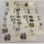 24 assorted American first day covers from the 1970's.