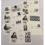 """8 American """"United Nations 25th Anniversary"""" first day covers dated 1970."""