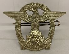 """A England Awake """"fantasy"""" badge in with eagle and oak leaf design and cotter pin to back."""