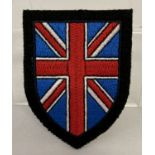 A reproduction British Free corps SS Union Jack sleeve badge.