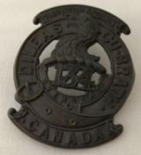 A WWI style Canadian Expeditionary Forces cap badge for the 48th Highlanders.