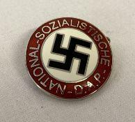 A modern German NSDAP party pin back badge.