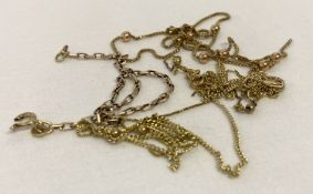 A small bag of broken 9ct gold chains suitable for scrap.