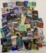 A collection of assorted trading cards empty packets.