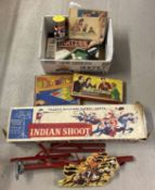 A part Mettoy Playthings Indian Shoot game, gun missing.