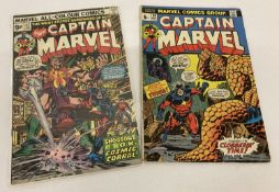 2 Captain Marvel Comic Books: Issues #26 (May 1973) & #42 (Jan 1975).