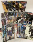 Approx. 56 Comic Books by DC Comics. Mostly Batman, together with a 1m x 17cm Superman poster.