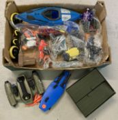 A box of assorted Action Man Vehicles and accessories.