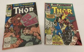 2 Issues of The Mighty Thor (#411 & #412) Comic Book published by Marvel Comics.