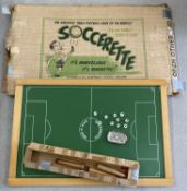 A vintage magnetic Soccerette game with original box by Soccerette Ltd, Newmarket, Suffolk.
