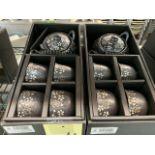 (2) Ensembles de service à thés - porcelaine - Fleur