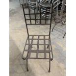 (6) Chaises patio - fer