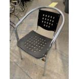 (12) Chaises Patio Aluminium