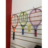 Lot de (3) Raquettes Tennis