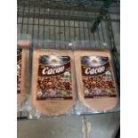 Lot de (8) scas de cacao et maca et sacha inchi