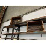 LOT: (7 pcs) Distressed Wooden Crates (Artisanal/Deco)