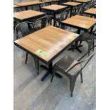 (8) tables Bistro, bois