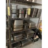 Gros Lot de contenants acier inox sur rack (50+)