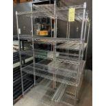 Lot de (4) racks NSF chromes, grandeures variées