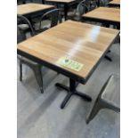 """(8) Belles Tables Bistro, bois, 30 x 24"""""""