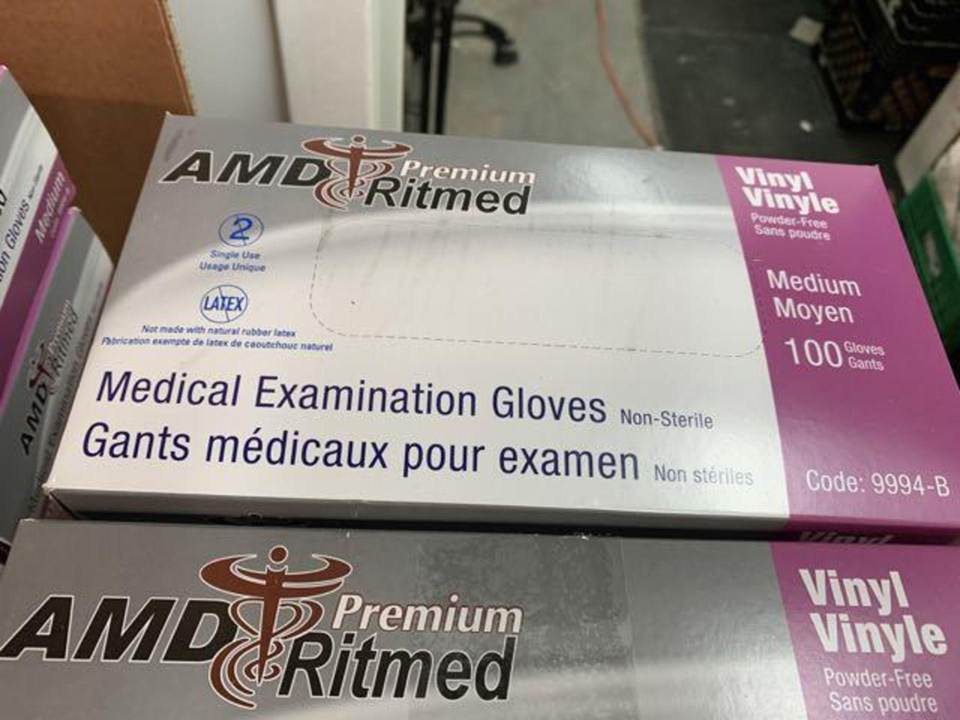 (6) Boites de gants medicaux AMD