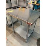 "Table de travail acier inox MKE - NEUVE # ECTC 3024 - 30 x 24"""