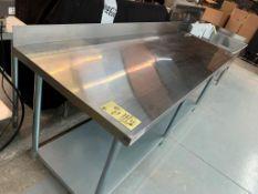 "Table de travail acier inox MKE - NEUVE # ECTCB 8430 - 84 x 30"""
