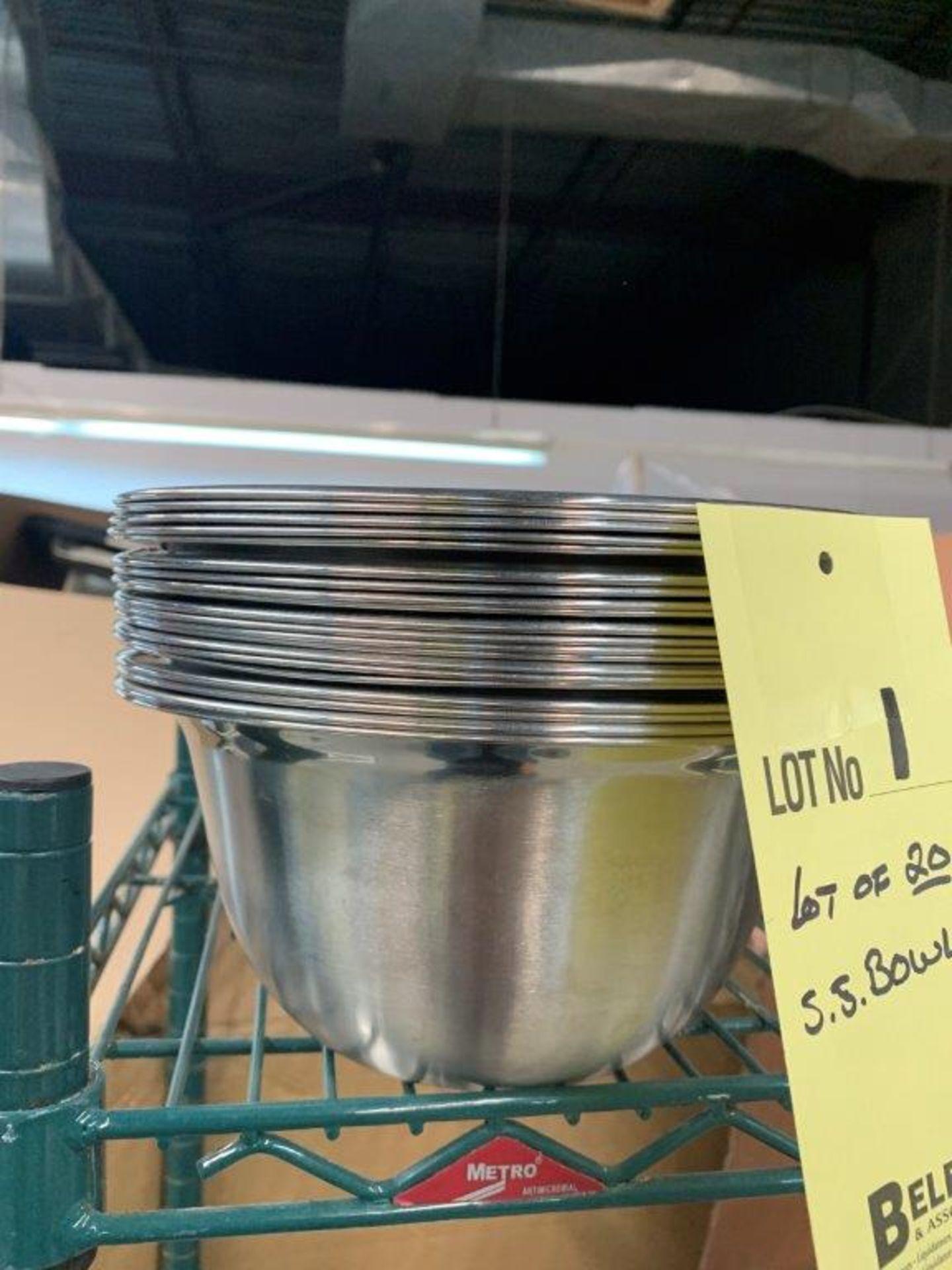 Lot de (20) bols acier inox - Image 3 of 3