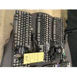 Lot de(3) claviers DELL et souris