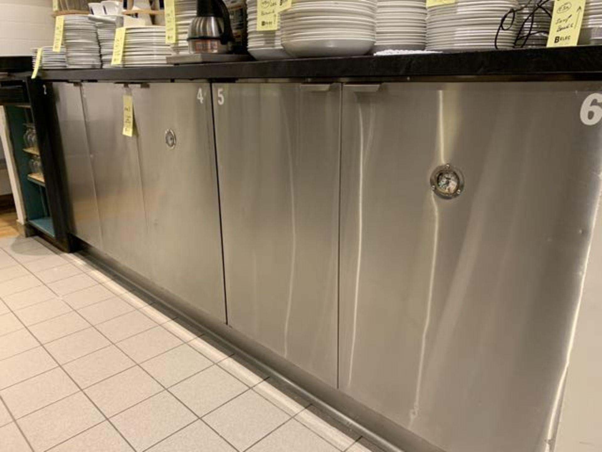 """Réfrigérateur de bar 5 portes acier Inox a / compresseur externe 11' x 31 x 42"""""""