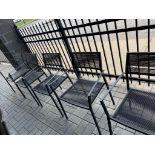 Lot de 6 chaises patio - varies