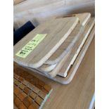 Lot de 6 planches à decouper et napperons bois