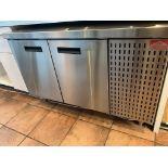 """Comptoir refrigere 2 portes acier inox ZESTO 48 x30 """""""