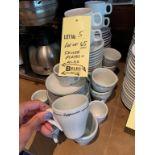 Lot de (65) tasses et sous tasses