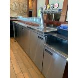 "Back bar refrigere 5 portes acier inox. a/ tap biere en fut -12' x 28 ""- compresseur intégré"