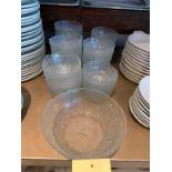 Lot de (45) bols en vitre