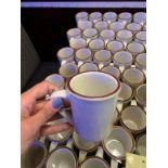 Lot de (66) tasses à café
