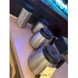 Lot de (3) thermos café acier inox + 1