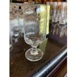 Lot de (30) verres d'eau