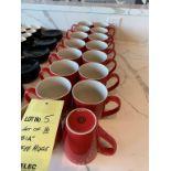 Lt de 16 BIA tasses café - rouges
