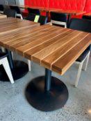"""(6) SUPERBES Tables 28 x 24 """" Bois solide exotic - Quantité x $ mise"""