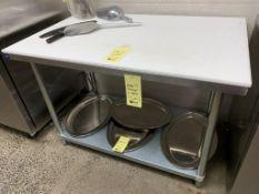 "Table THORINOX acier inox 4 ' x 30"" - sans planche Poly"