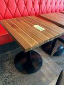 """(8) SUPERBES Tables 28 x 24 """" Bois solide exotic - Quantité x $ mise"""
