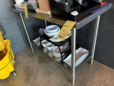 """Table acier Inox 4 ' x 24"""""""