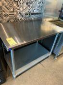"Table de travail THORINOX 4' x 30"" acier Inox"