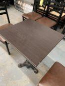 """(7) Tables - avec base fer forgé 23 X 22"""" - QUANTITÉ x prix misé"""