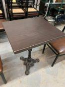 """(10) Tables - avec base fer forgé 23 X 22""""- QUANTITÉ x prix misé"""
