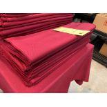 Lot de (100) napkin tissus - rouge vin